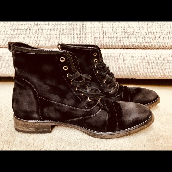 Black Suede John Varvatos Mens Boots